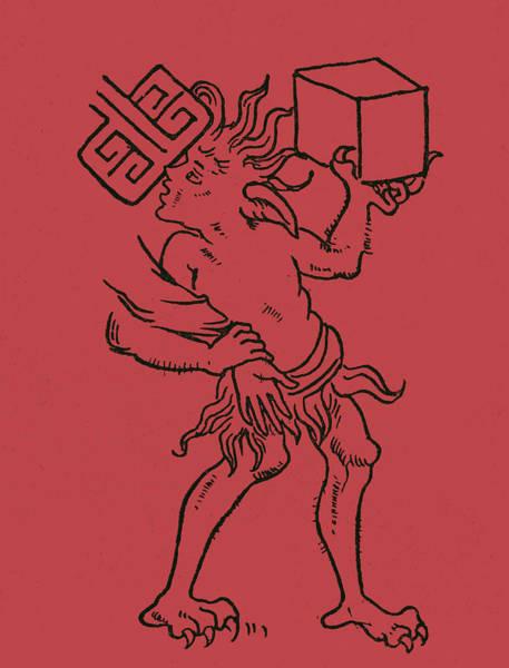 Devilish Drawing - A Demon by English School