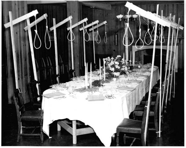 Bbq Painting - A Dinner Table Set Up For 14 Unsuspecting Guests In 1946 by Celestial Images