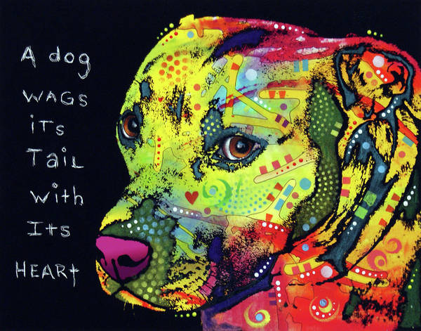 Wall Art - Painting - A Dog Wags His Tail by Dean Russo Art