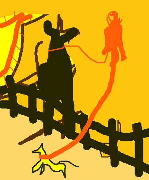 Wall Art - Digital Art - A Dog Walker by Artist Dot