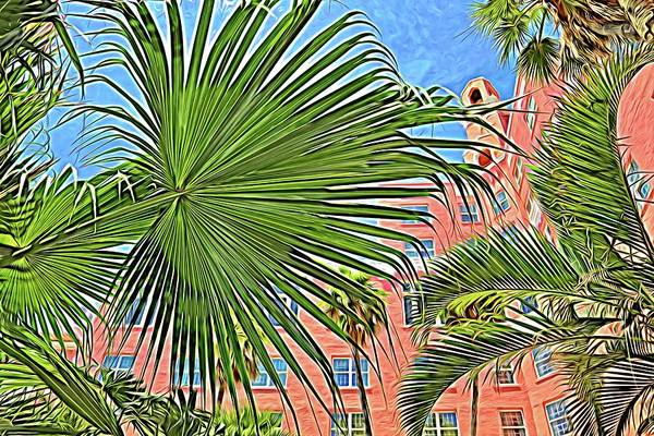 Photograph - A Don Cesar Palm Frond by Alice Gipson
