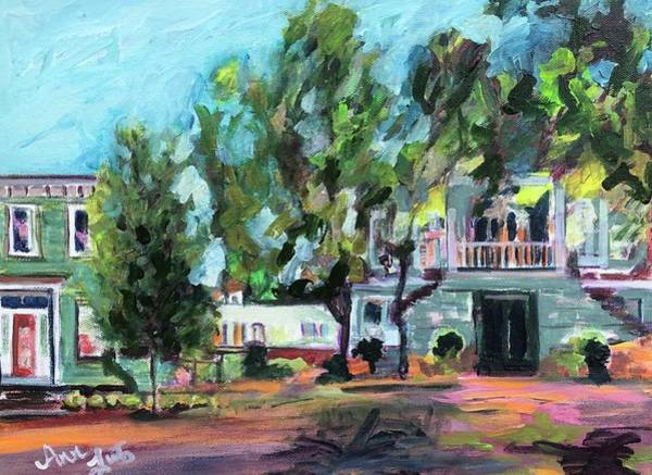 Wall Art - Painting - A Downtown Stroll by Ann Lutz