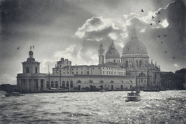 Wall Art - Photograph - A Dreamy Vision Of Venice Italy In Black And White  by Carol Japp
