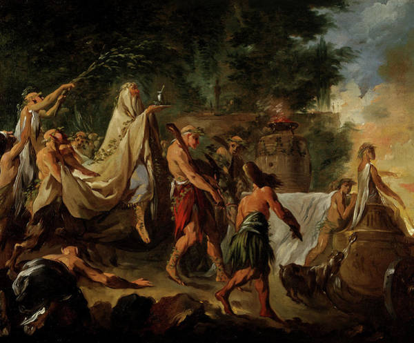 Dedication Painting - A Druids' Ceremony, 1744 by Noel Halle