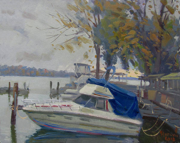 Wall Art - Painting - A Drzzling Day At Tonawanda Island by Ylli Haruni