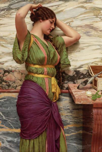 Wall Art - Painting - A Fair Reflection, 19th Century by John William Godward