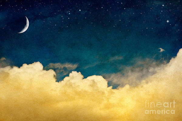 Wall Art - Photograph - A Fantasy Cloudscape With Stars And A by David M. Schrader