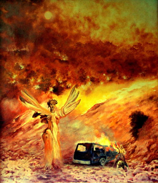 Summoning Painting - A Fiery Element by Henryk Gorecki