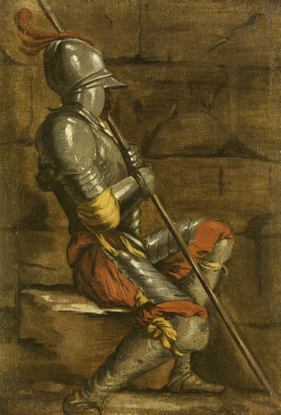 A Figure In Armour Art Print