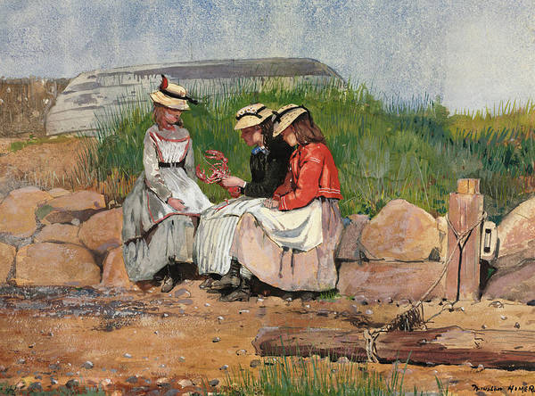 Wall Art - Painting - A Fisherman's Daughter, 1873 by Winslow Homer