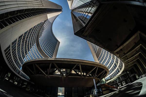 Photograph - A Fisheye View Of The Toronto City Hall Building by Sven Brogren