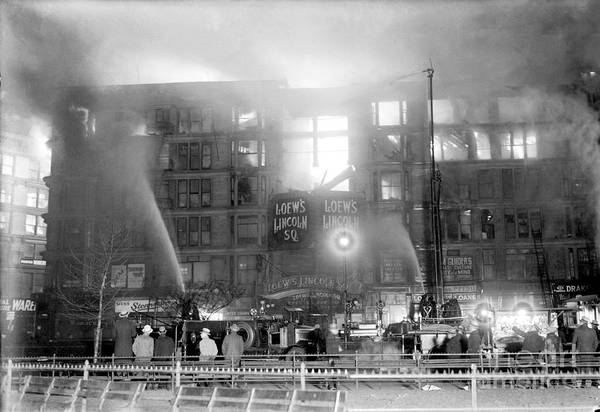 Photograph - A Five Alarm Blaze Detected Just After by New York Daily News Archive