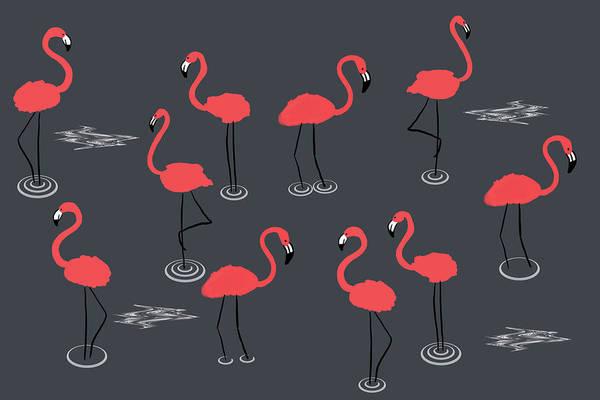 Photograph - A Flamboyance Of Flamingos  by Mark Rogan