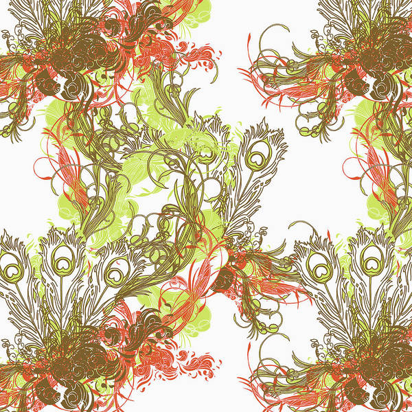 Stem Digital Art - A Floral Pattern by Hannah Stouffer