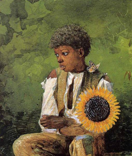 Wall Art - Painting - A Flower For The Teacher Winslow Homer by Celestial Images