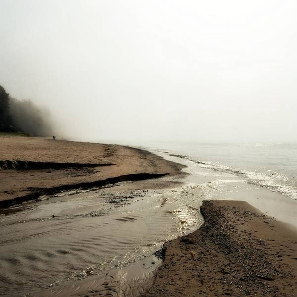 Photograph - A Foggy Day At Pier Cove Beach by Michelle Calkins