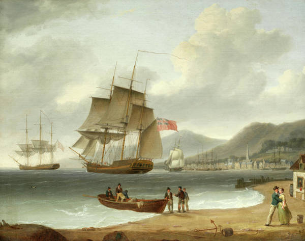 Wall Art - Painting - A Fond Farewell Before The Squadron Sets Sail by William Anderson