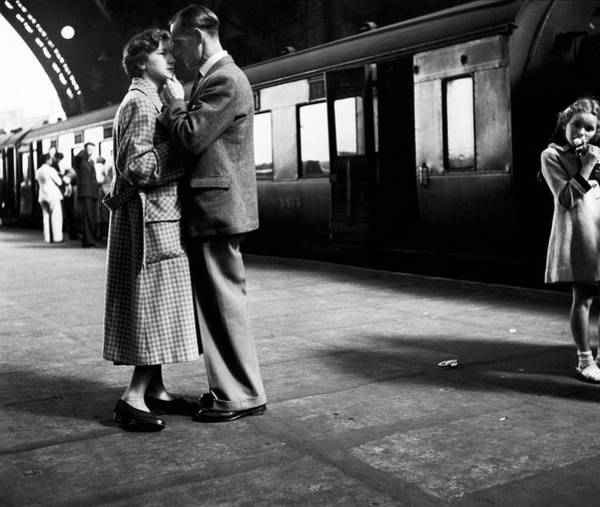 Heterosexual Couple Photograph - A Fond Farewell by Erich Auerbach