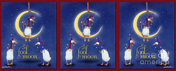 Wall Art - Painting - A Fool Moon... by Will Bullas