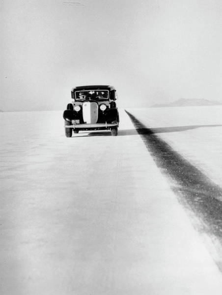 Wall Art - Photograph - A Ford Lincoln On The Bonneville Salt by Heritage Images