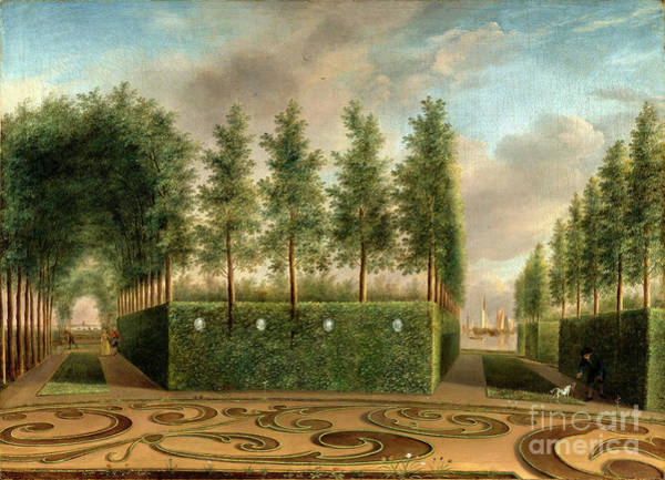 Wall Art - Painting - A Formal Garden by Audrey Jeanne Roberts