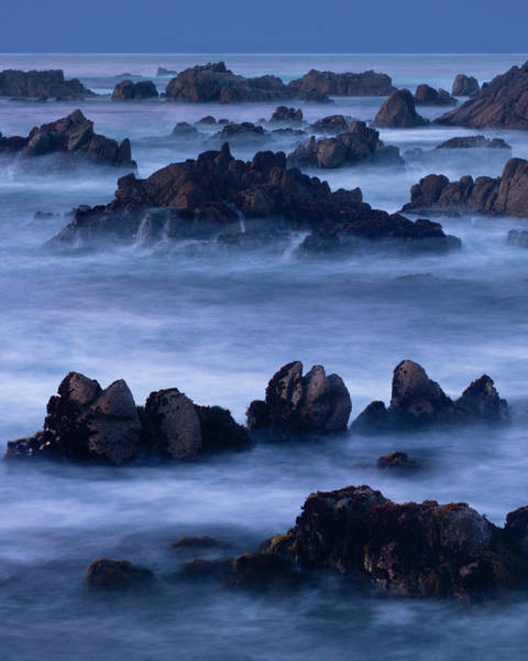Monterey Bay Photograph - A Four Minute Time Exposure Of Ocean by Mint Images - Art Wolfe