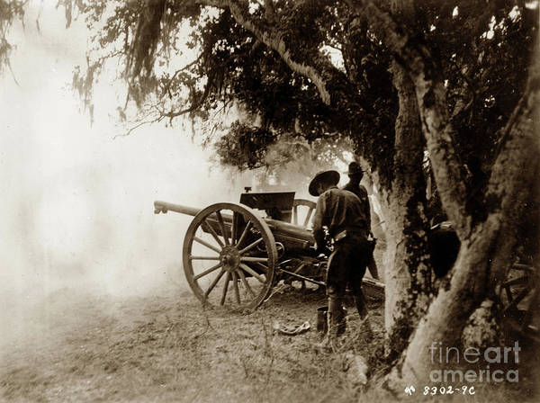 Photograph - A French  75mm Gun Use By The 76th Field Arttilery, United State by California Views Archives Mr Pat Hathaway Archives