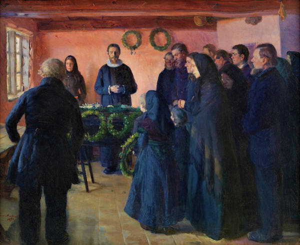 Wall Art - Painting - A Funeral - Digital Remastered Edition by Anna Ancher
