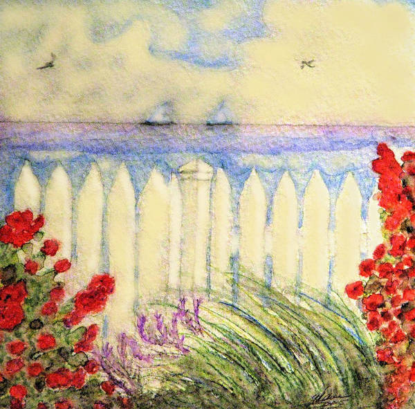 Painting - A Garden By The Sea by Angela Davies