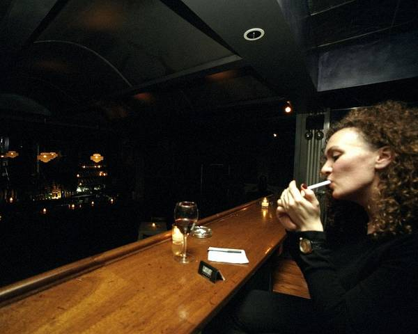 Delicatessen Photograph - A Generation X Bar At The Back Of by New York Daily News Archive