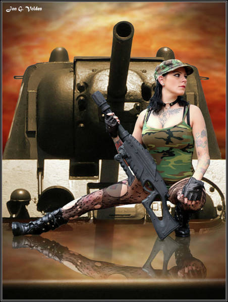 Photograph - A Girl And Her Tank by Jon Volden