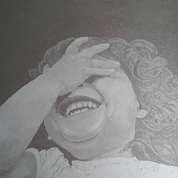 Wall Art - Painting - A Girl Laughing by Sharon Bernacki