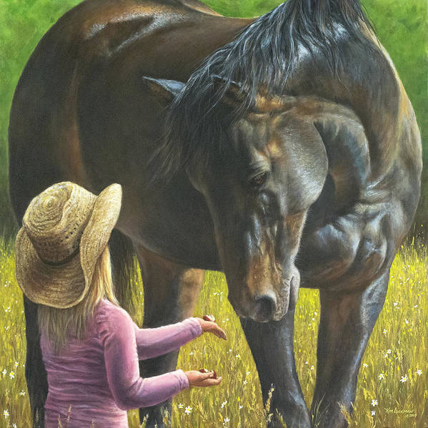 Painting - A Girl's Best Friend by Kim Lockman