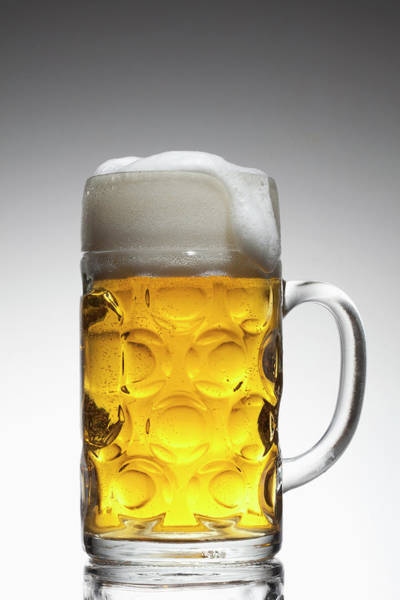 Lager Photograph - A Glass Mug Of Beer by Dual Dual