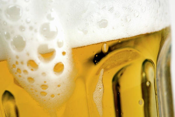 Alcohol Photograph - A Glass Of Beer by Caspar Benson