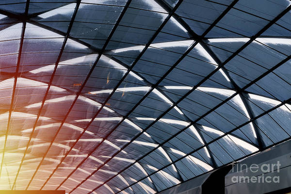 Photograph - A Glass Roof Of The Subway Station by Marina Usmanskaya
