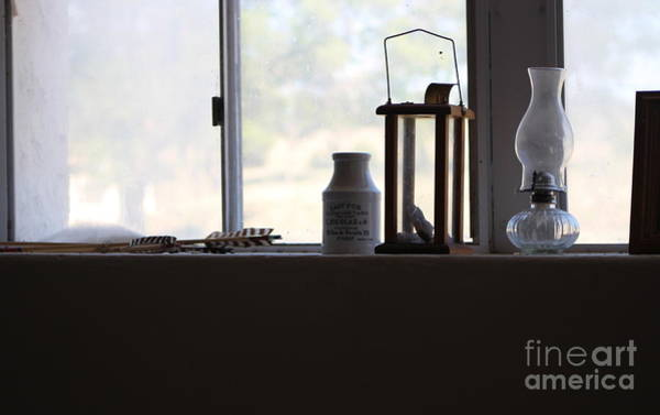 Photograph - A Glimpse Back A Window Ledge Fort Stanton New Mexico by Colleen Cornelius