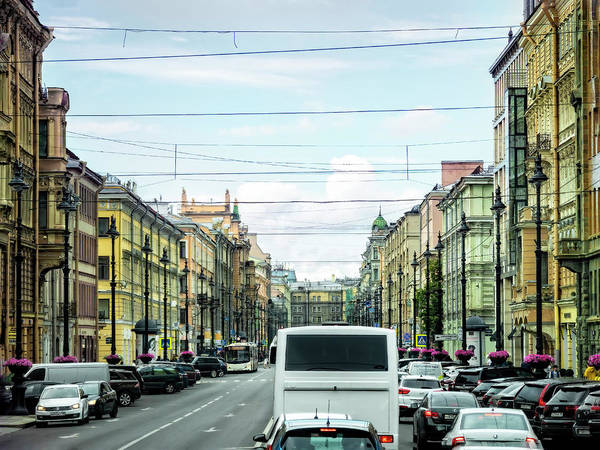 Photograph - A Glimpse Of Main Street, Russia by Kay Brewer