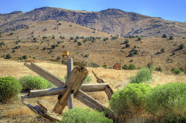Wagon Wheel Photograph - A Glimpse Of The Old West by Donna Kennedy