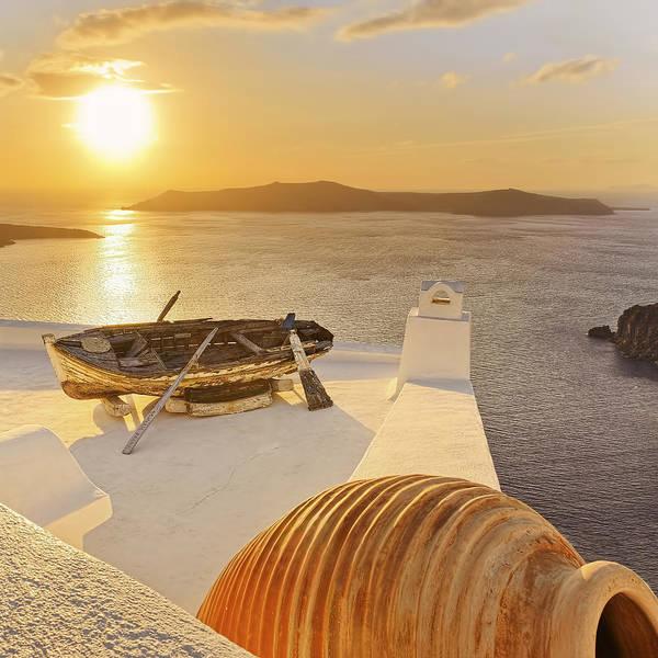 Photograph - A Golden Sun Of Santorini Island by © Alexander Gutkin Goutkin@gmail.com