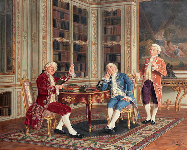 Research Painting - A Good Read by Andrea Landini