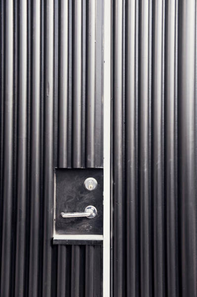 Handle Photograph - A Gray Door, Sweden by Crispin, Alexander