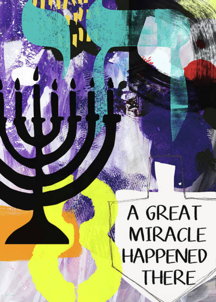 Hebrew Wall Art - Painting - A Great Miracle- Art By Linda Woods by Linda Woods