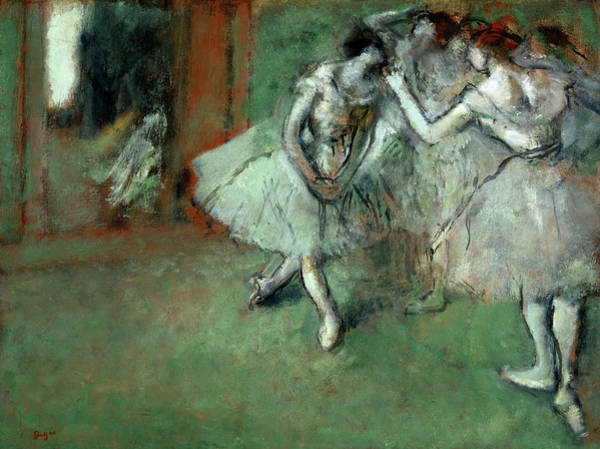 Edgar Degas Painting - A Group Of Dancers, 1898 by Edgar Degas