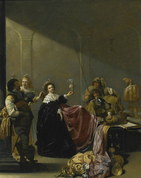 Painting - A Guardroom Interior by Jacob Duck
