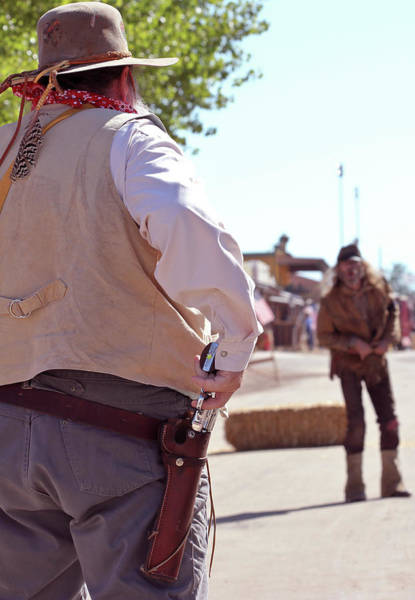 Western Costume Photograph - A Gunfight During Helldorado, Tombstone, Arizona by Derrick Neill