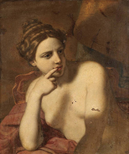 Wall Art - Painting - A Half-length Female Figure, Possibly Venus by Michele Desubleo