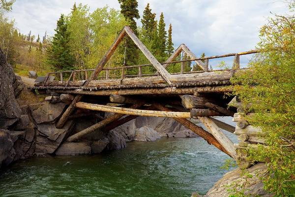 1 Photograph - A Historic Log Bridge, Frontier Bridge by Design Pics / Blake Kent