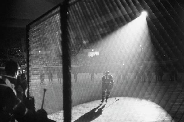 Hockey Photograph - A Hockey Game Being Held In The Spokane by J. R. Eyerman