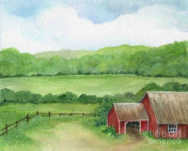 Painting - A Homestead View by Laurie Rohner